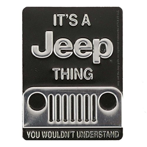 Jeep Magnets - Open Road Brands Jeep Thing Embossed Metal Magnet