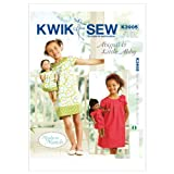 Kwik Sew K3905 Abigail and Little Abby Made to Match Dresses Sewing Pattern, Size XS-S-M-L-XL Doll: 18-Inch