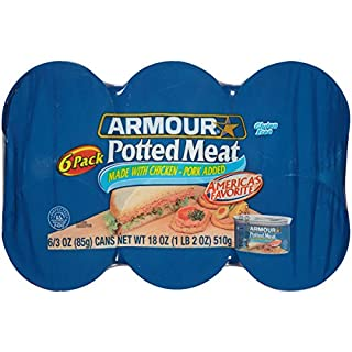 Armour Potted Meat, Chicken and Pork, 3 Ounce, 6 Cans