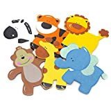 Homeford Assorted Safari Animals Wooden Favors, 5-Inch, 6-Piece