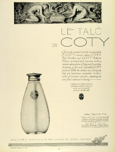 1924 Ad Coty Talc Powder Toilette Water Bottle French Perfume Parfum Fragrance - Original Print Ad