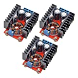 Onyehn 3 Pcs 150W DC-DC 10-32V to 12-35V Step Up Boost Converter Module Adjustable Power Voltage 3 Pack
