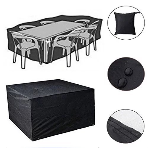 Feikai Outdoor All Weather Furniture Cover, Waterproof Rain Cover Garden Cases Shelter Square Patio Rattan Wicker Tables Chairs Dining Cube Sofa Sets Protection (Black XL 250x250x90cm) price