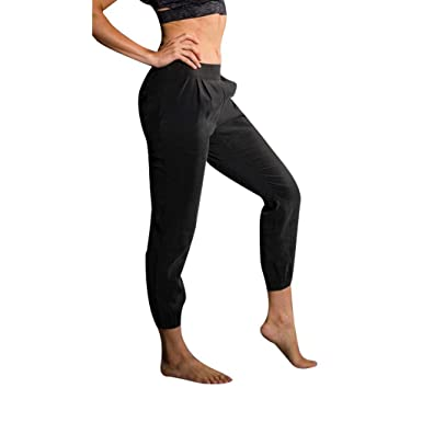 5d8bee6fa070e Onzie Yoga Woven Jogger Pant 2019 Black at Amazon Women's Clothing store: