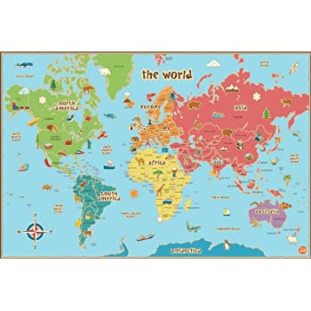 Amazon wall pops wpe0624 kids world dry erase map decal wall wall pops wpe0624 kids world dry erase map decal wall decals gumiabroncs Image collections