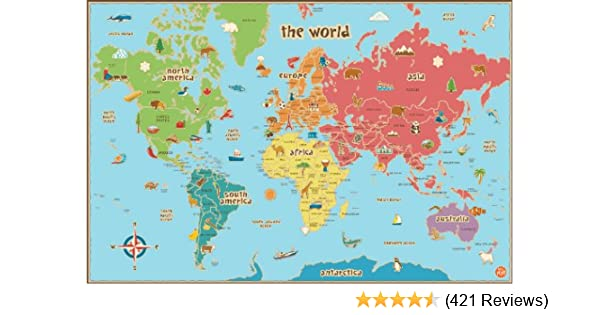 Amazon wall pops wpe0624 kids world dry erase map decal wall amazon wall pops wpe0624 kids world dry erase map decal wall decals home improvement gumiabroncs Gallery