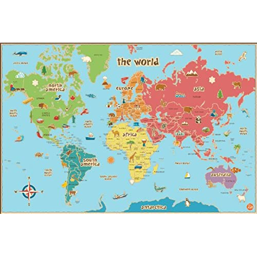 Maps For Kids Amazoncom - Us wall map for kids