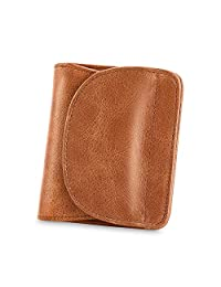 Kattee RFID Leather Bifold Wallet Coin Card Holder Small Purse for women (Brown)