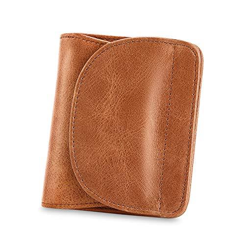 Kattee Women's Small RFID Blocking Bi-fold Leather