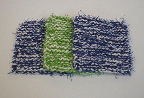 handmade-dish-pot-pan-scrubbies-scrubbers-scrub-pads-3-pk-2-royal-blue-1-green