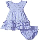 Rosie Pope Baby Girls' 2 Piece Set with Headband and Matching Diaper Cover, Seagull 18M