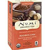 NUMi TEAS Organic Tea Rooibos Chai Herbal Teasans, 18 Count