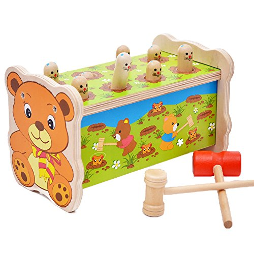Nice toy for small children. My grandson loves to bang on stuff. It's sturdy and we'll made. Glad I bought it!