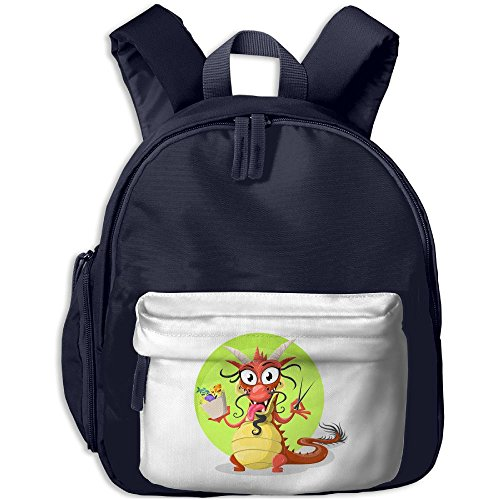 Kid's Cute Humorous Chinese Dragon Eat Seafood Noodles School Bags/Packbags For Boys And - Z Cookie Dragon Ball