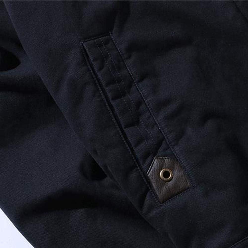 DEELIN Hombres OtoñO Invierno SóLido Color Denim Chaqueta Biker Motos BotóN Outwear Capa Top Blusa Felpa Solapa Chaquetas American De Tela Vaquera: Amazon.es: Ropa y accesorios