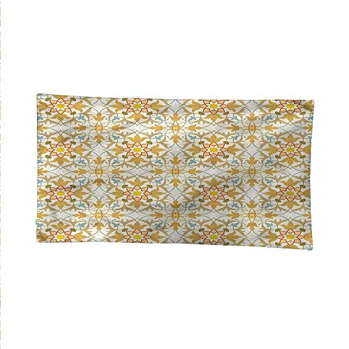 Orientalspace tapestrywall Hanging tapestryArt Nouveau Style Foliage 93W x 70L Inch ()