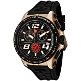 Swiss Legend Men's 80040-RG-01-BB Sprint Racer Collection Chronograph Black Rubber Watch