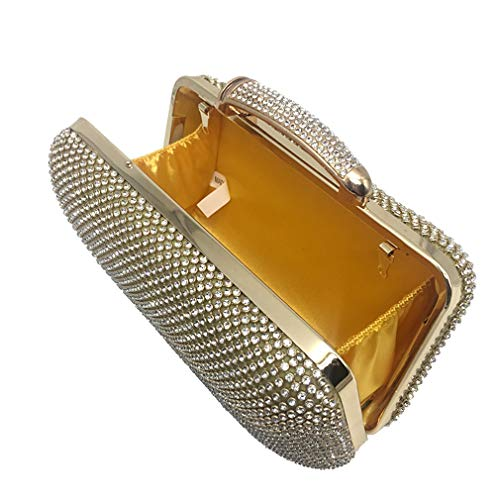 Diamonds Handbags Rhinestones Bags Clutch Wedding Bridal Women Bag Bags Evening Evening Gold Purse Ladies qpz6wZY