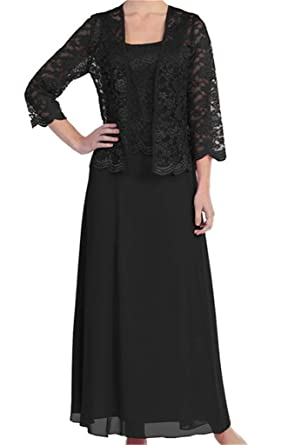 H.S.D Womens Lace Mother of The Bride Dress Formal Gowns with Jacket ...