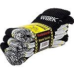 Cotton Prime Lot de 6 paires de chaussettes homme pour le travail et les loisirs - chaussettes de travail robustes 9