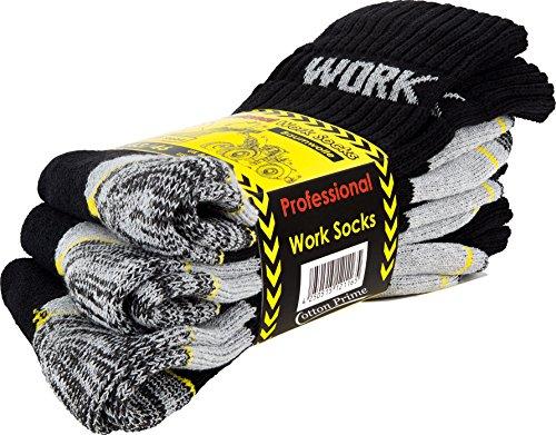 Cotton Prime Lot de 6 paires de chaussettes homme pour le travail et les loisirs - chaussettes de travail robustes 4