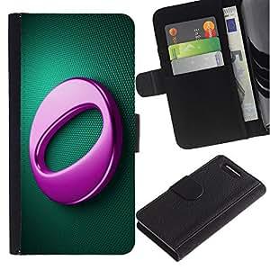 Ihec-Tech / Flip PU Cuero Cover Case para Sony Xperia Z1 Compact D5503 - Pink O