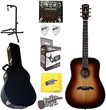 Alvarez ada1965 parte superior sólida acústica dreadnought guitarra w/BK funda y más: Amazon.es: Instrumentos musicales