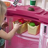 Step2 Fun with Friends Kitchen   Large Plastic Play Kitchen with Realistic Lights & Sounds   Pink Kids Kitchen Playset & 45-Pc Kitchen Accessories Set