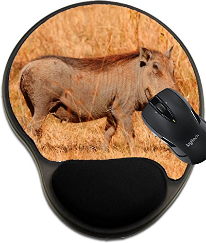 MSD Mousepad wrist protected Mouse Pads/Mat with wrist support Single warthog in the grass Masai Mara Kenya Image 36328766 Customized Tablemats Stain Resistance Collector Kit Kitchen Table Top DeskDr