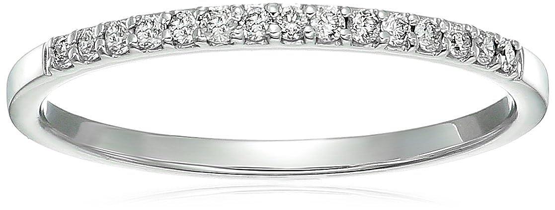 1/8 ctw Petite Diamond Wedding Band in 10K White Gold Vir Jewels