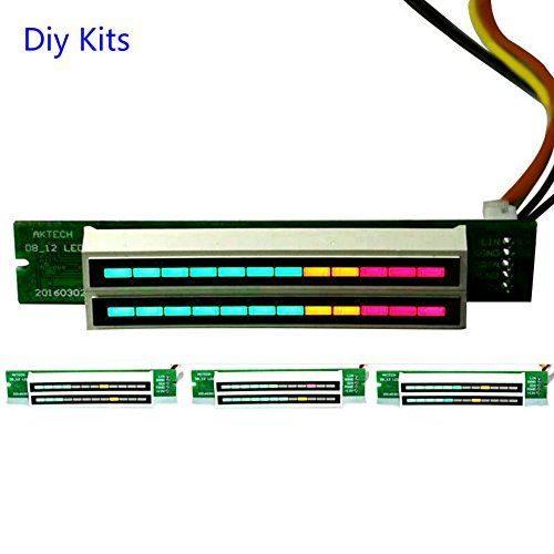 1PC 7v-12v Amplifier Board Mini Dual 12 Level indicator VU Meter Stereo Adjustable light Speed Board With AGC Mode Diy KITS(A)