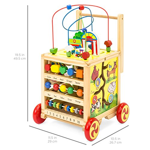 Best Choice Products 5-in-1 Educational Wooden Toy Bead Maze Learning Activity Cube Set by Best Choice Products (Image #4)