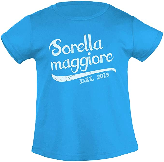 Idea Regalo T-Shirt Maglietta Bambina Sorella Maggiore dal 2019
