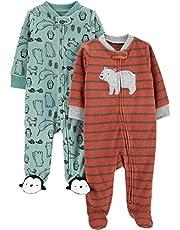 Simple Joys by Carter's Baby-Boys 2-Pack Fleece Footed Sleep and Play