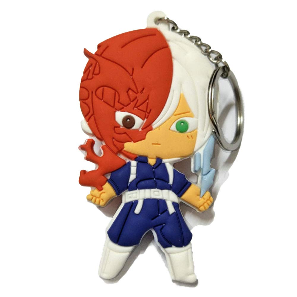 DOFE My Hero Academia Keychains, PVC Keychains for boys.3.1.