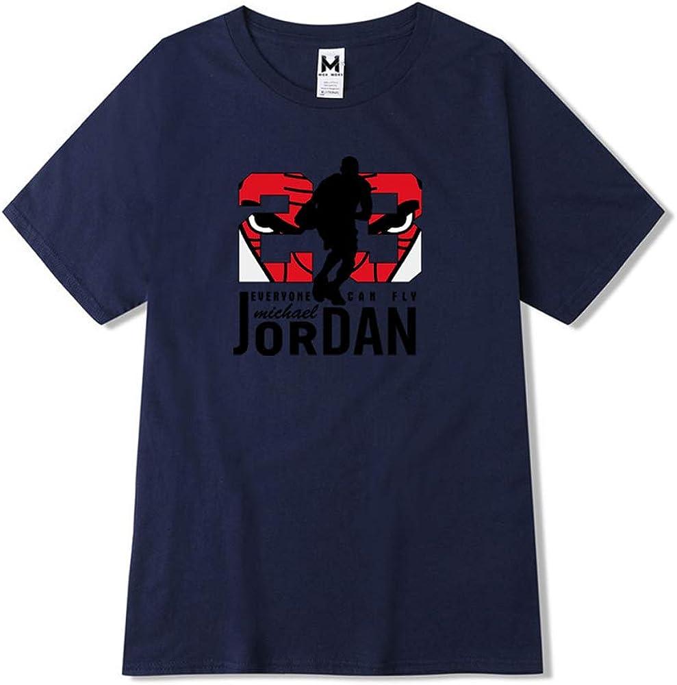 LJA Hombres Jordan 23 Camiseta de impresión Algodón Puro Camiseta de los Hombres Código Grande Camiseta: Amazon.es: Ropa y accesorios