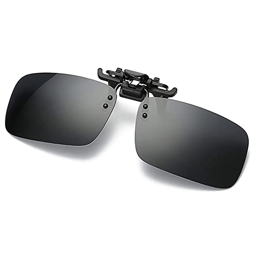 fcac13fdc6 Clip-on Sunglasses Polarized Lens Unisex Frameless With Metal Flip Up For  Driving