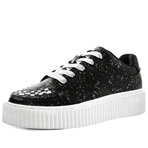 Creeper Et Casbah Noir Féminin Paint Chrome Shoes T Splatter u k 6qA484