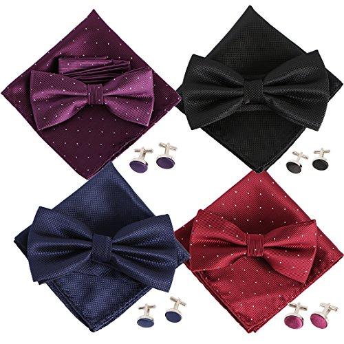 kilofly Gentlemen Pretied Cufflinks Handkerchief product image
