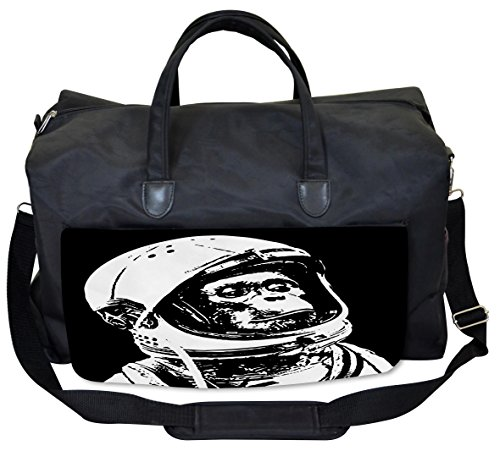 Lunarable Outer Space Gym Bag, Chimpanzee in Costume, Large Weekender (Outer Space Costumes Ideas)