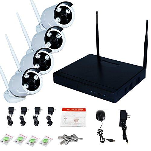 Wavetown K9504 4ch Hd Wireless Nvr Security Camera System