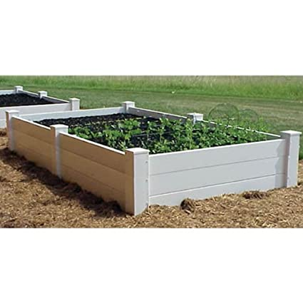Dura Trel Vinyl Raised Planter Box 4ft X 8ft X 16.