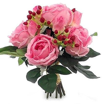 Rosaamp; Con 29cm Bocciolo BaccheAmazon Iperico Di Bouquet shdtQrCxB