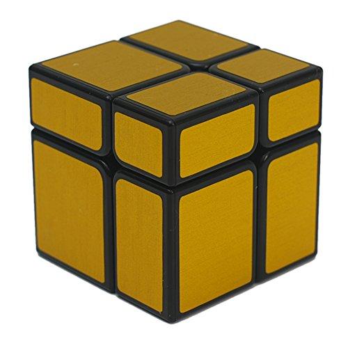 Leoie 2x2 Magic Cube Irregular Deformation Intellectual Development Speed Puzzle Cubes Educational Toys for Children Golden 2x2 Mirror surafce