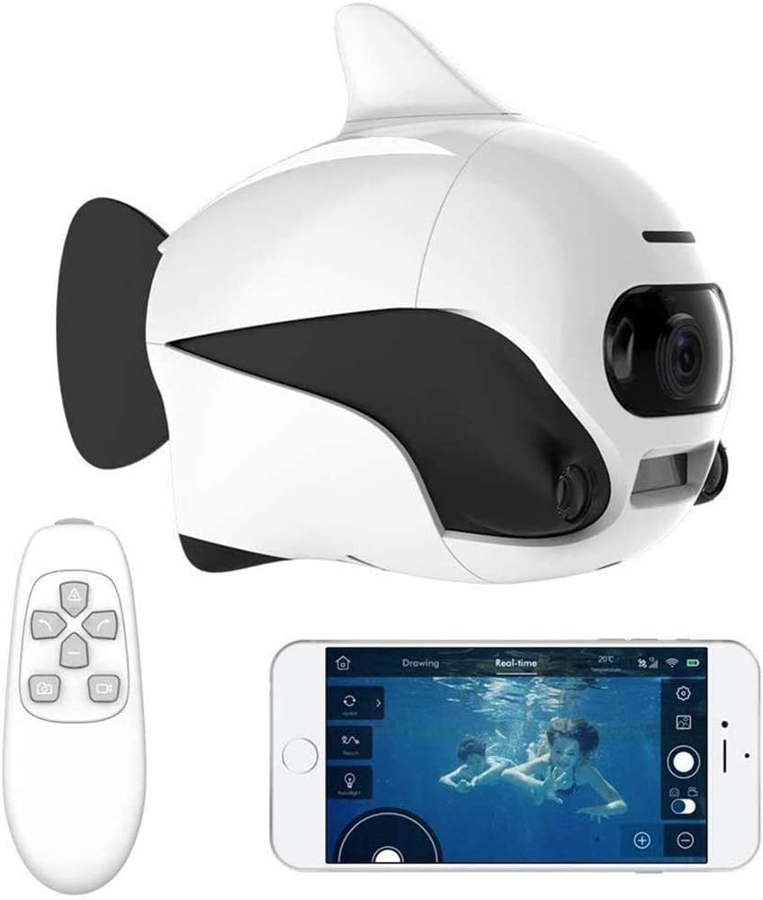 QinLL Biki, Drone Submarino, Control Remoto inalámbrico Sumergible supprot, con cámara 4K HD