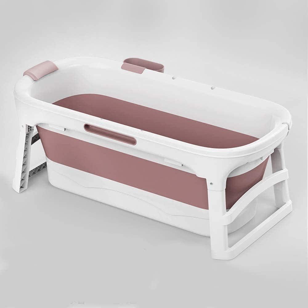 Lloow Bañera de hidromasaje Adultos Plegables portátiles para Adultos Gran bañera Plegable de plástico para Adultos Grande plástico de la Ducha de hidromasaje y 2020
