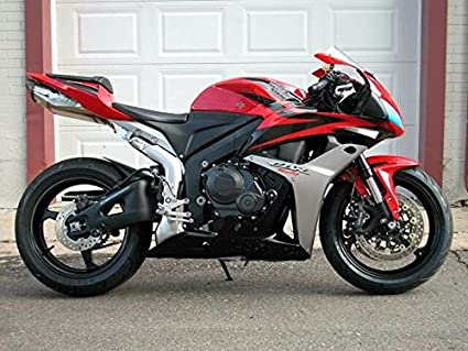 Amazoncom Red Silver Black Fairing Injection For 2007 2008 Honda