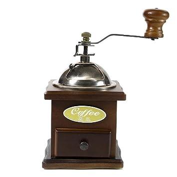 PLYY Amoladora Manual de la máquina del café, Amoladora de los Granos de los Troncos
