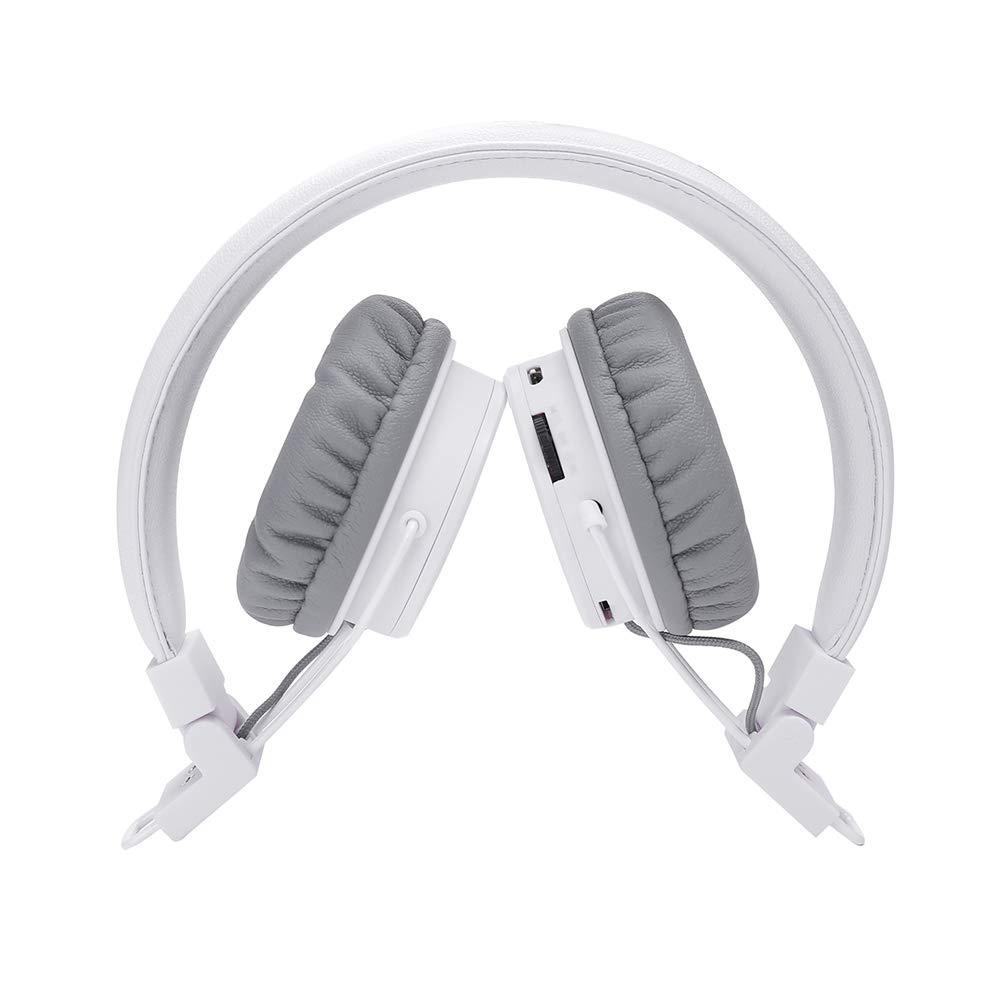 Blau Faltbare Kinder-Headset mit integriertem Mikrofon zum Anrufen Wireless // Wired Noise Cancelling /Über-Ohr-Kopfh/örer Invech Bluetooth Kinder Kopfh/örer mit shareport
