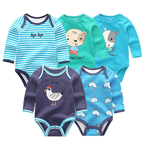 Krastal Baby Boys Clothes 5 PCS Summer Long Sleeve for sale  Delivered anywhere in USA